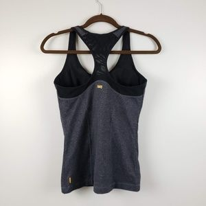 Lucy Mesh Yoga Workout Tank Grey Size Medium